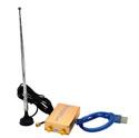 Novo SDR RTL 2832U R820T2 Receptor de rádio HF Reception 100K-1.8G TXCO 0.5 PPM SMA Frequência precisa de rádio definida por software